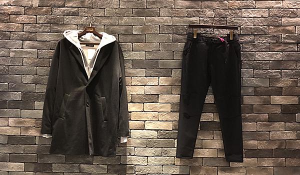 【ロングコートはパーカーINでカジュアルに着る,】