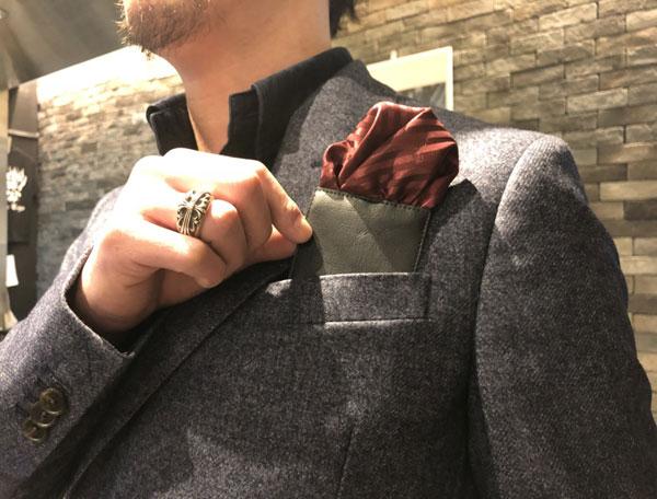 【新たなカタチのポケットチーフ,】